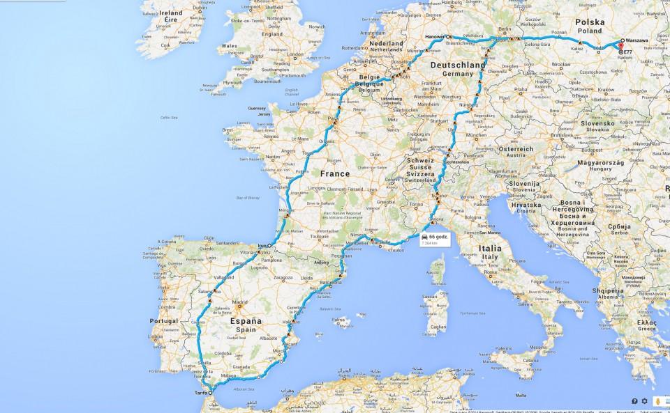 hiszpania trasa
